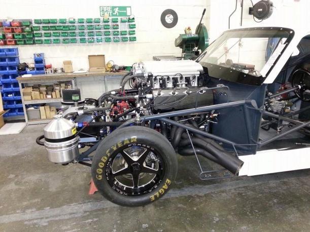 I.C.E.-built 500ci Twin turbo pro mod hemi