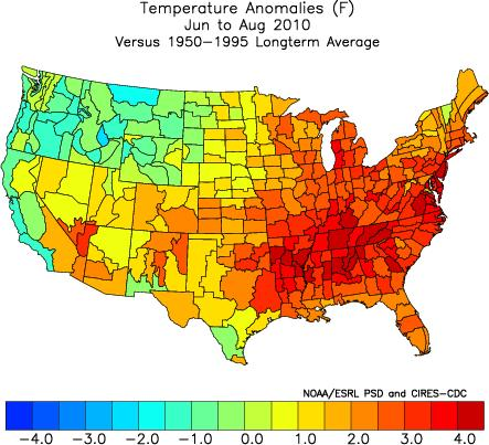 Running Hot And Cold In The USA Watts Up With That - Us summer temperature map
