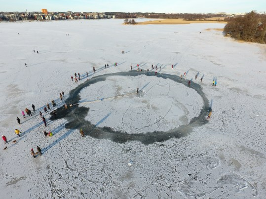 Ice carousel Helsinki