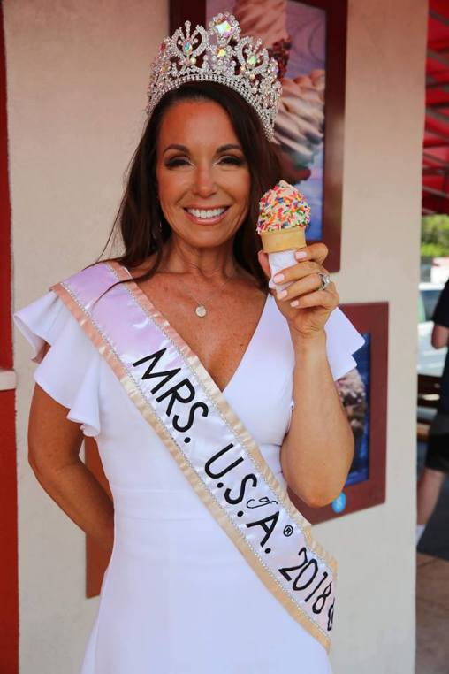 Mrs USA 2018 at National Ice Cream Day
