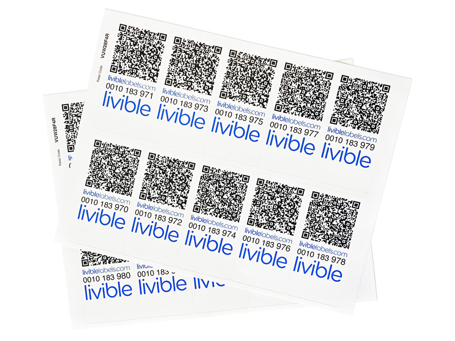 Livible labels printouts