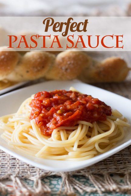 Perfect Pasta Sauce by Ice Cream Inspiration. You'll never buy the stuff in the bottles again!