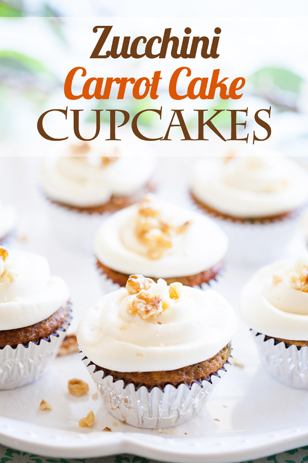These Zucchini Carrot Cake Cupcakes mix two classics--Zucchini Bread and Carrot Cake--to make one luscious cupcake great for any time of year!