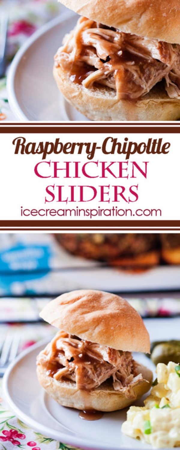 Raspberry Chipoltle Chicken Sliders are the perfect slow cooker meal for any time of year! Just one of the great recipes in Real Food Slow Cooker Suppers! Chicken sliders recipe, raspberry chicken, chipoltle chicken, best slow cooker chicken recipe