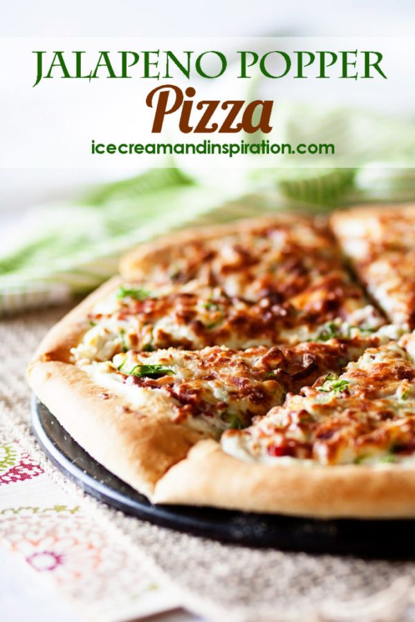 If you love pizza and you love jalapenos, then this Jalapeno Popper Pizza is the perfect pizza for you! It's great as a main dish or an appetizer. How can you go wrong with jalapenos, bacon, onions and cheese? Jalapeno pizza. Pizza dough recipe. Pizza recipe.