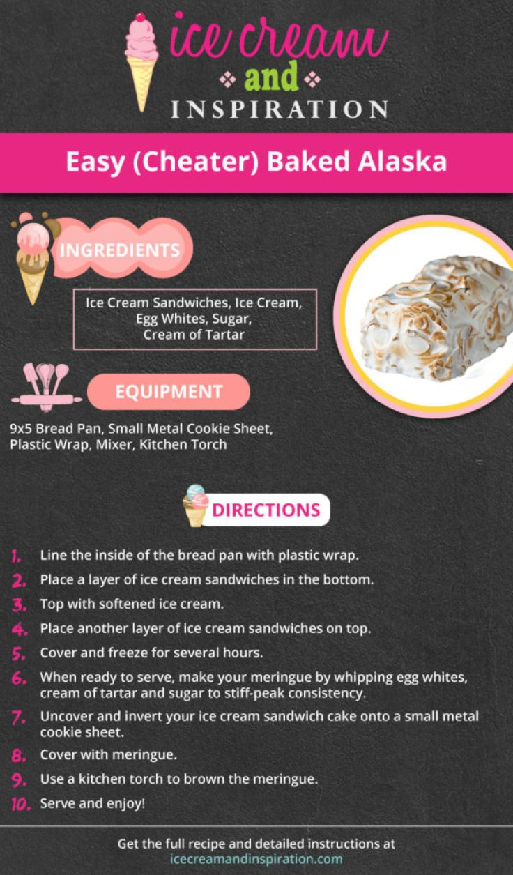 Forget the hours and hours it takes to make Baked Alaska! Make this Easy (Cheater) Baked Alaska instead for an impressive dessert everyone will love! Only five simple ingredients!