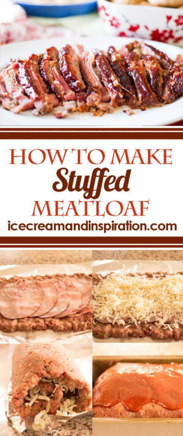 You just found the best meatloaf recipe ever! Follow this tutorial to learn how to make easy mozzarella cheese and ham stuffed meatloaf.