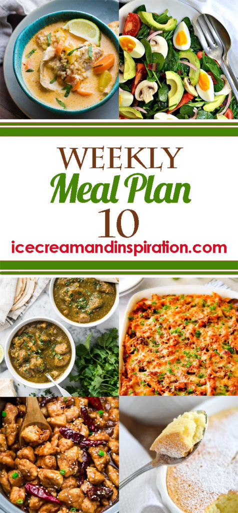 This week's meal plan has recipes for Thai Slow Cooker Chicken and Wild Rice Soup, Mexican Pork Chili Verde, Million Dollar Baked Penne, Moroccan Spiced Salmon, and more! Plus, recipes for bread and dessert.