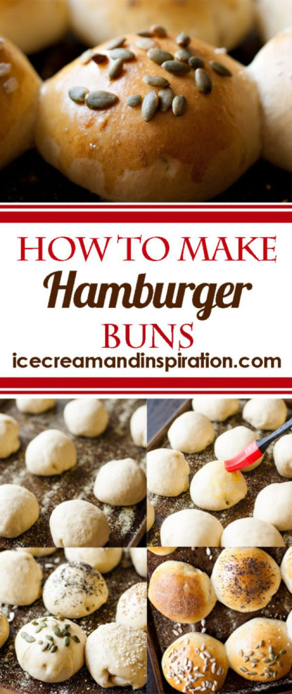 Learn how to make delicious home made hamburger buns! So much better than anything you can buy! Soft and fluffy, yet able to stand up to the juiciest burger!