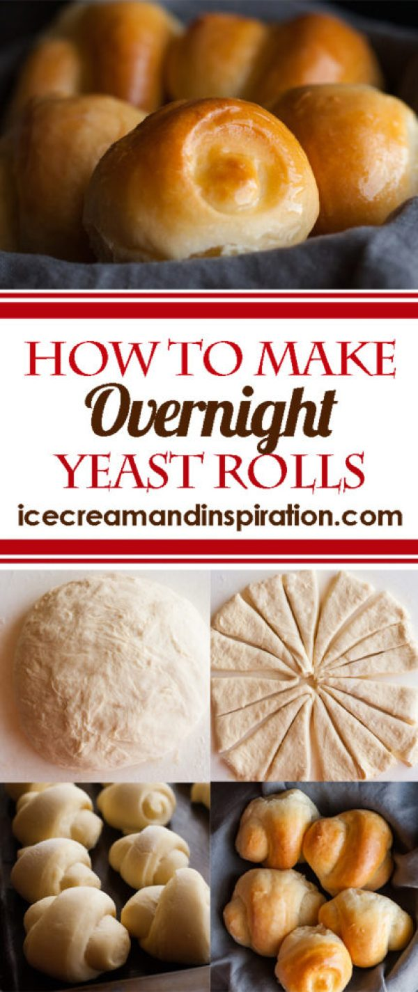 How to Make Overnight Yeast Rolls. Follow this step-by-step tutorial and recipe for overnight yeast rolls. Perfect when you want to save time baking on Thanksgiving!