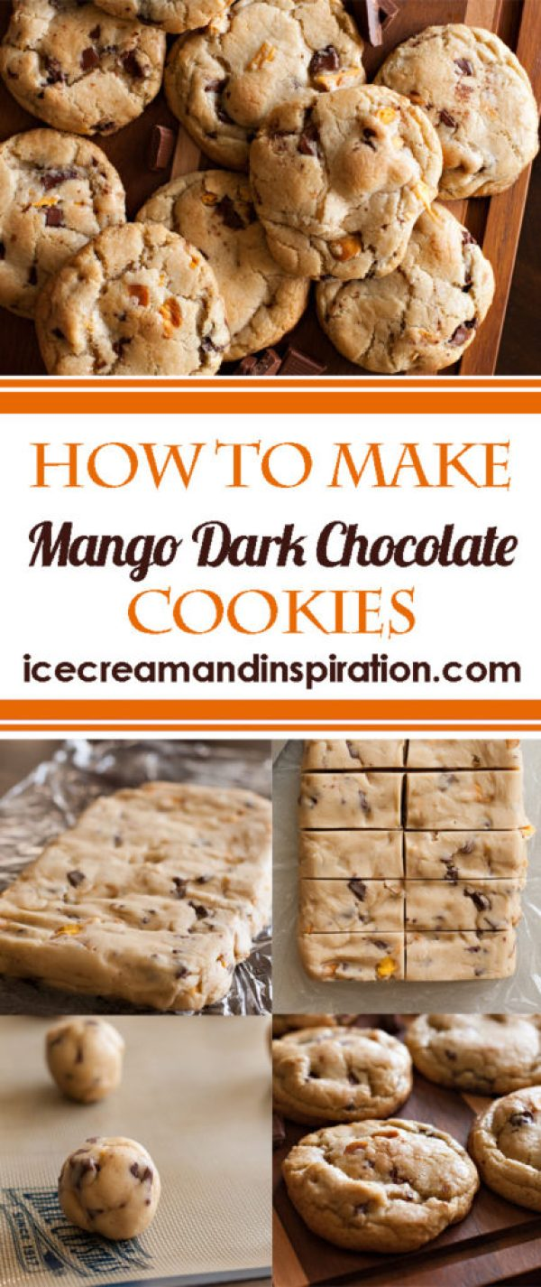 Learn how to make Mango Dark Chocolate Cookies (Ruby Snap Copycat). Full of real mango and dark chocolate chunks, these citrus-flavored cookies can't be beat!