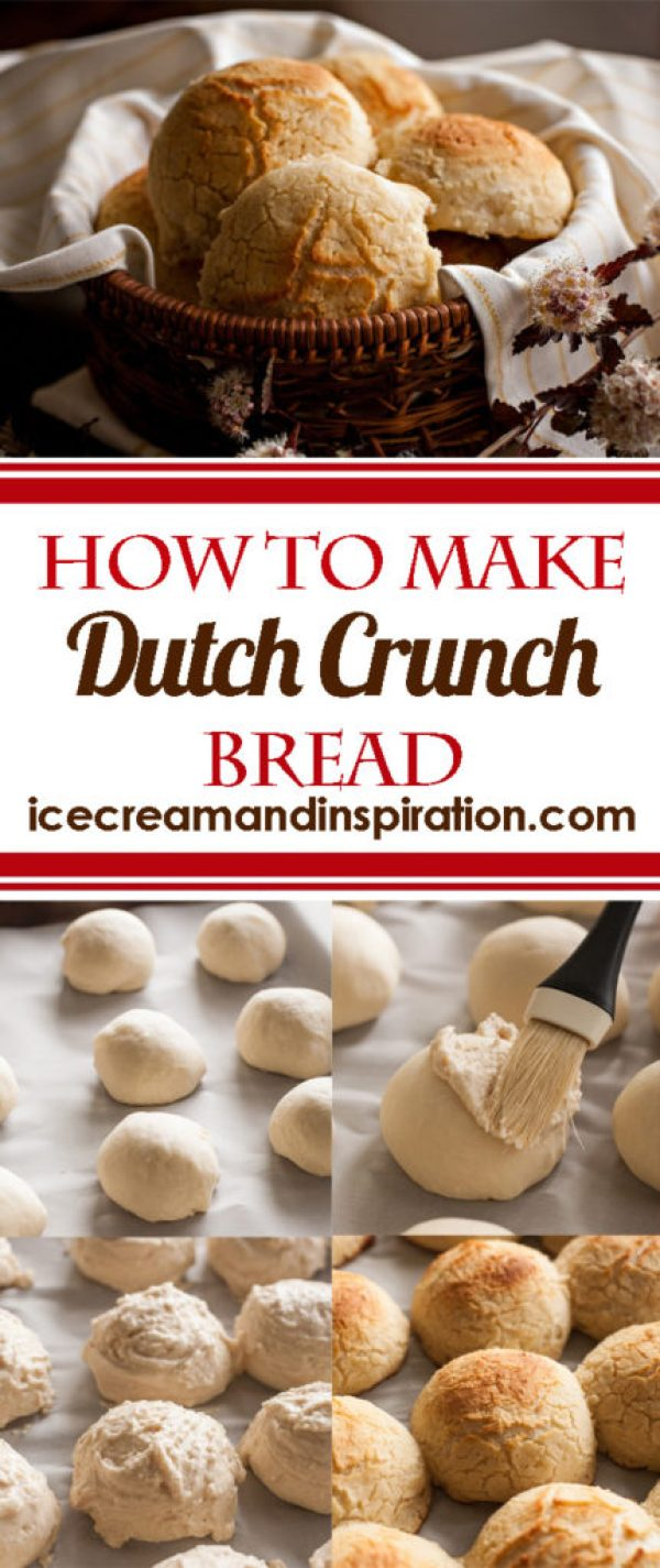 Learn how to make Dutch Crunch Bread! Tender rolls with a crunchy, crackly top. Super fun to make and eat!
