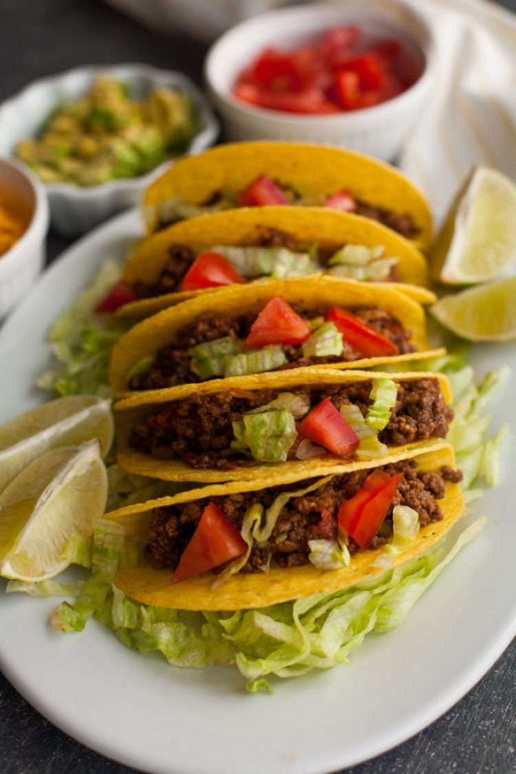 Sweet and Spicy Ground Beef Tacos