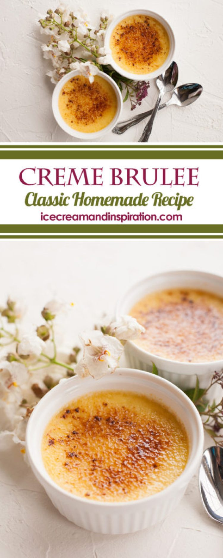 Follow the step-by-step tutorial for making Classic Creme Brulee at home. The ultimate impressive dessert of smooth vanilla custard topped with crackling caramelized sugar.