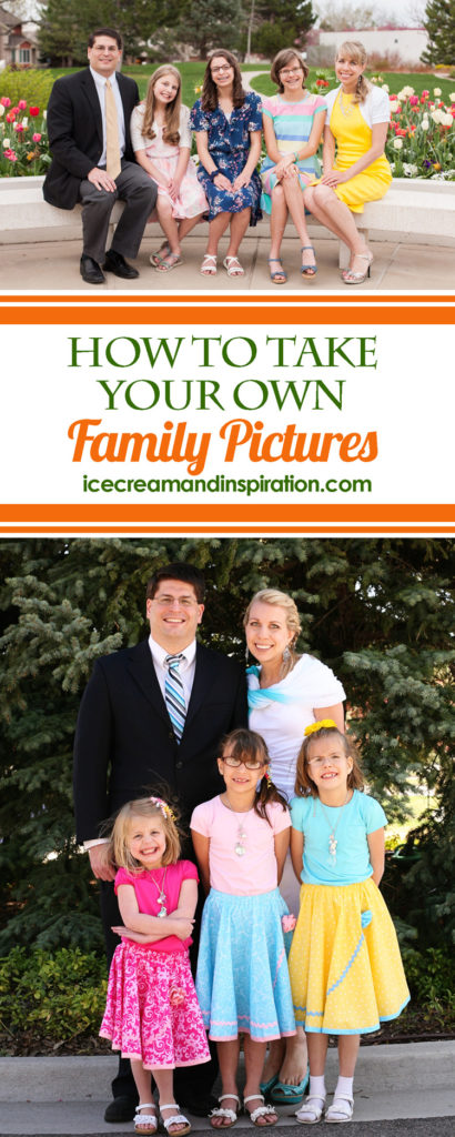 Taking your own family pictures can be challenging! Follow these tips and tricks from a Certified Professional Photographer to up your chances of success at your next family photo shoot!