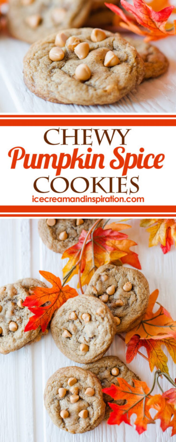 These chewy, soft pumpkin cookies are a new take on the classic chocolate chip cookie! With a tender interior and slightly crispy edge, full of pumpkin, cinnamon, and all the other spices you love for fall, they are the perfect addiction for the season!