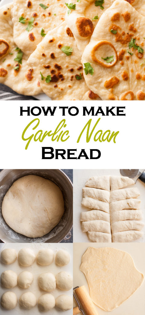 Learn how to make Garlic Naan Bread at home! Have the bread from your favorite Indian restaurant right at home!
