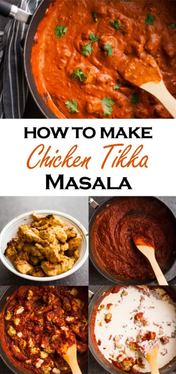 Learn how to make easy Indian Chicken Tikka Masala! Tender chicken in a creamy tomato sauce with mild Indian spices. The essential Indian dish to add to your repertoire!