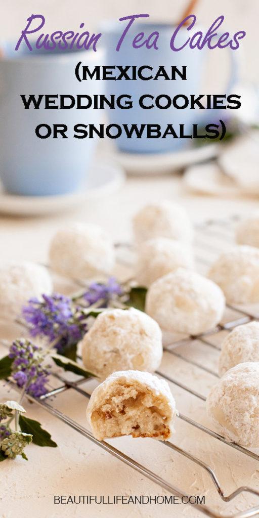 Sometimes know as Mexican Wedding Cookies or Snowball Cookies, this Russian Teacakes Recipe is the original from Betty Crocker!