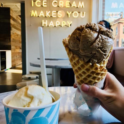 Ice Cream Makes You Happy Sign
