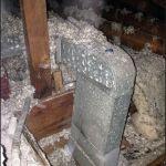 ice dam prevention photo, un-insulated duct-work in attic, ice dam cause