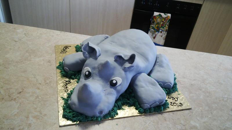 Rhino Cake For World Rhino Day Iced Creations By Linda