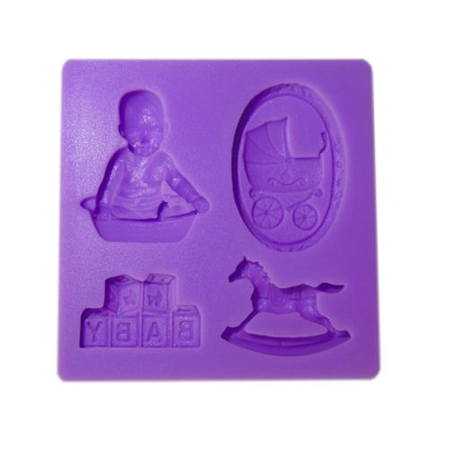 SILICONE PURPLE MOULD F125