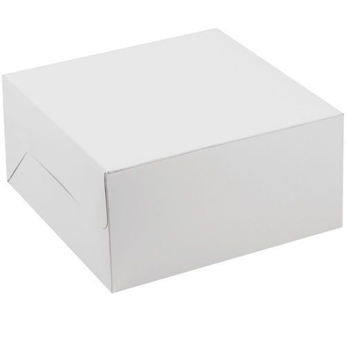 CAKE BOX WHITE COLOUR 10X10X5 INCH
