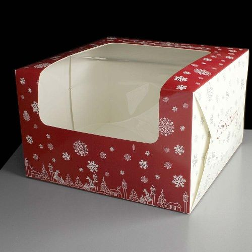 CAKE BOX PRINTED 8X8 WINDOW