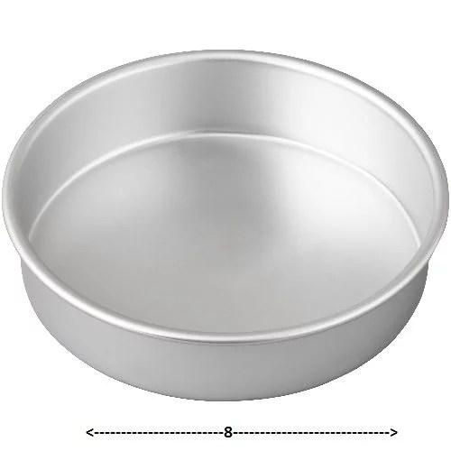CAKE PLATE(TIN) ROUND 8″