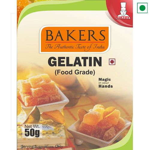 BAKERS GELATIN 50GM