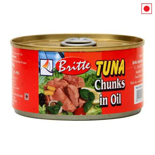 BRITTO TUNA CHUNKS IN OIL 185GM