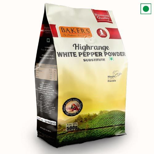 BAKERS HIGHRANGE WHITE PEPPER POWDER 500GM