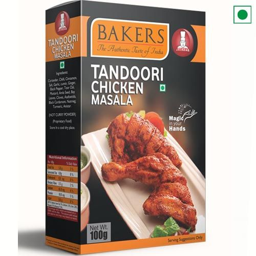 BAKERS TANDOORI CHICKEN MASALA 100GM
