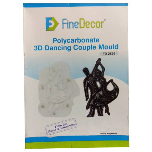 POLYCARBONATE 3D DANCING COUPLE CHOCOLATE MOULD FD 2536