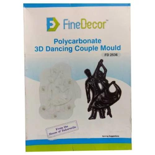 POLYCARBONATE 3D DANCING COUPLE CHOCOLATE MOULD FD 2536