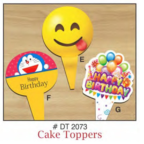 CAKE TOPPERS HAPPY BIRTHDAY EMOJI 10 PIECE