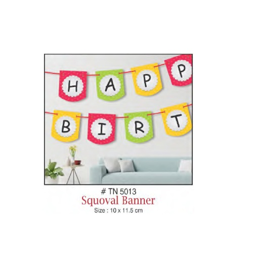 WALL DECORATION SQUOVAL BANNER HAPPY BIRTHDAY