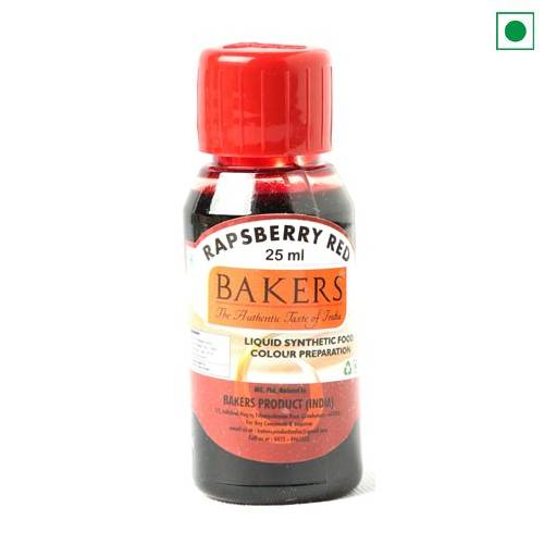 BAKERS LIQUID FOOD COLOUR RASPBERRY RED 25ML