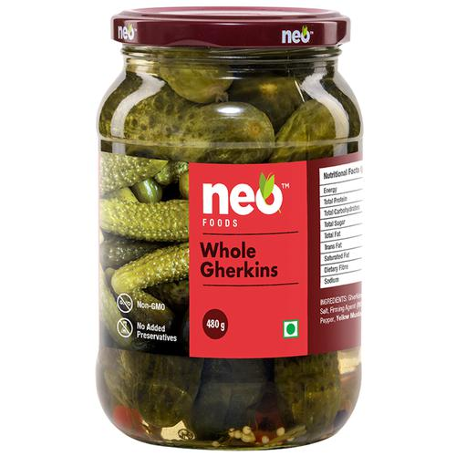 NEO GHERKINS WHOLE 480GM