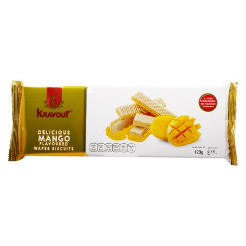 KRAVOUR MANGO WAFER BISCUITS 120g