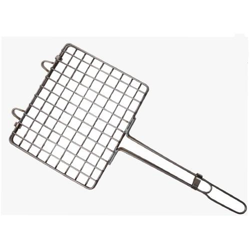PEPE BBQ STAINLESS STEEL 10X12 INCH HAND GRILL