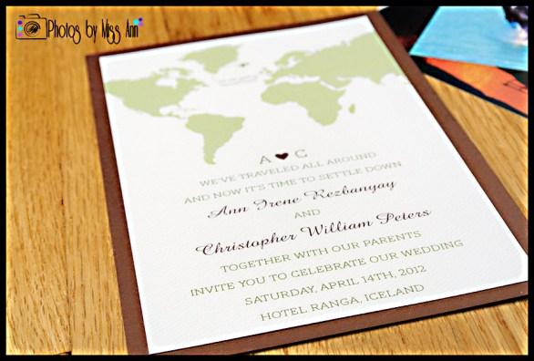 Iceland Wedding Invitation