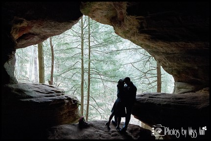 Hocking Hills Wedding Photos in Ash Cave Photos by Miss Ann
