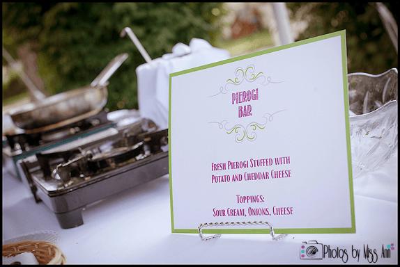 Pierogi Bar Event Menu Sign Photos by Miss Ann Iceland Wedding Photographer