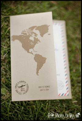 World Map Destination Wedding Invitation Iceland Wedding Planning Photos by Miss Ann