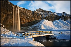 Iceland Destination Wedding Location Seljalandsfoss by Iceland Wedding Planner Ann Peters