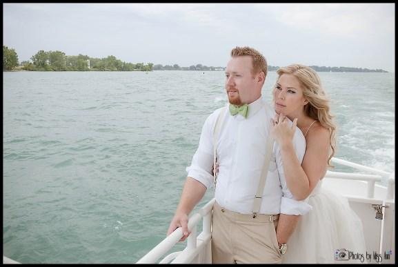 Infinity Ovation Yacht Wedding Boat Wedding Michigan Photos by Miss Ann