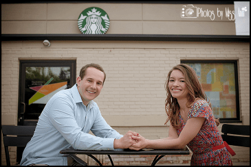 Starbucks Engagement Session Photos Michigan State Campus E Session Photos by Miss Ann