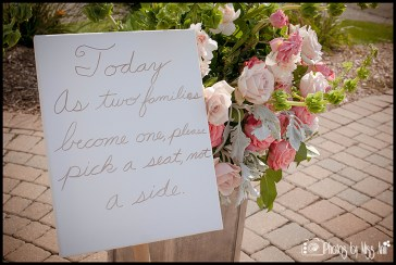 Wedding Ceremony Sign Ideas Today As Two Families Become One Please Pick a Seat Not a Side